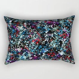paint drop design - abstract spray paint drops 4 Rectangular Pillow