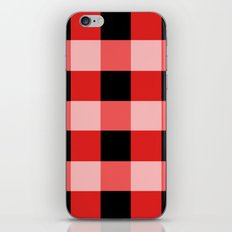 Red squares iPhone & iPod Skin