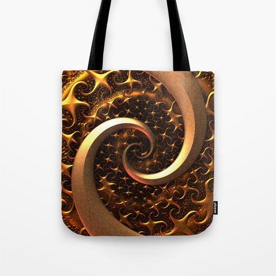 Golden Spirals Tote Bag
