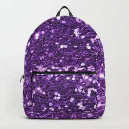 Trendy girly modern purple faux sequins Backpack