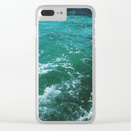 Ocean waves, Dominican republic Clear iPhone Case