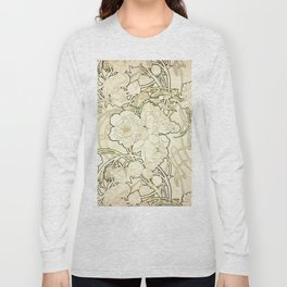"Alphonse Mucha ""Peonies"" Long Sleeve T-shirt"