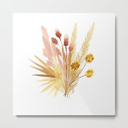 Mari's Bouquet of Dried Flowers Metal Print