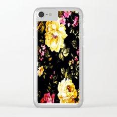 ROSES WHITE AND PINK FLOWERS Clear iPhone Case