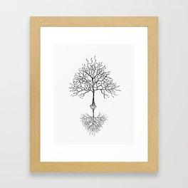 Tree of life meaning white Framed Art Print