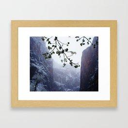 Secret Snow Mountain (crop) Framed Art Print