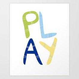Play Nersery art Art Print