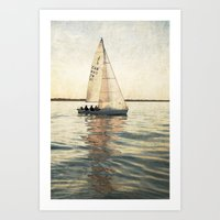 sailing Art Prints featuring Sailing by Mary Kilbreath