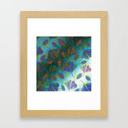 Ginkgo Leaves Under Water Framed Art Print