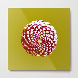 pine cone in olive green, purple and burgandy Metal Print