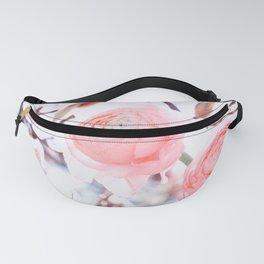 noble floral pattern of magnolia and ranunculus flowers Fanny Pack