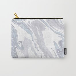 Navy Marble Waves Carry-All Pouch
