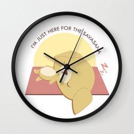 Yoga Golden Retriever Dog Wall Clock
