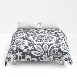 White Lace. Seamless Pattern. Comforters