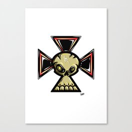 Skull Cross Canvas Print