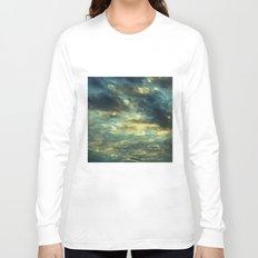 Cloudy Gray Blue Sky Vintage Long Sleeve T-shirt