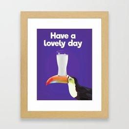Have a lovely day milk Framed Art Print