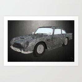 James Bond Aston Martin DB5 Art Print
