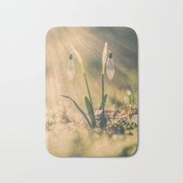 Shining snowdrop - Flower Sun Light Spring Bath Mat