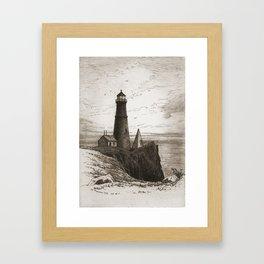 Vintage Lighthouse Art Framed Art Print