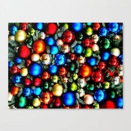 Christmas tree balls / back Canvas Print