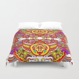 Tibetan ornament Duvet Cover