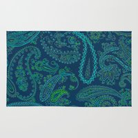 paisley Area & Throw Rugs featuring  paisley  by Ariadne