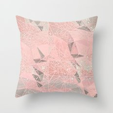 rose space geometry Throw Pillow