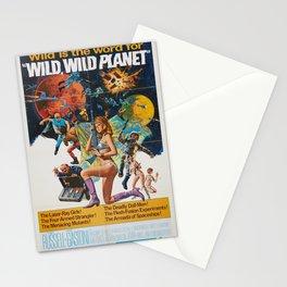 Wild Wild Planet 1965 Sci-Fi Precursor or Barbarella Queen Of The Galaxy Vintage Retro Movie Poster, Stationery Cards