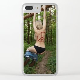 The kids Are all Wild Clear iPhone Case