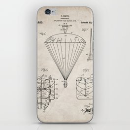 Parachute Patent - Sky Diving Art - Antique iPhone Skin