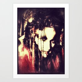 demon lady Art Print