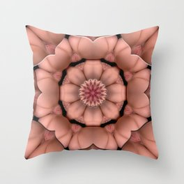 K-3930 Intimate Sexual Mandala Nude Female Enter Naked Body Closeup Vulva Abstracted Sexy Erotic Ar Throw Pillow