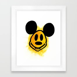 Smiley Mickey Framed Art Print