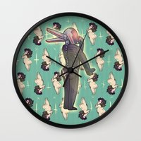 yaoi Wall Clocks featuring BUTTS 2 by kami dog