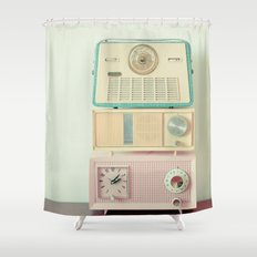 Radio Stations Shower Curtain