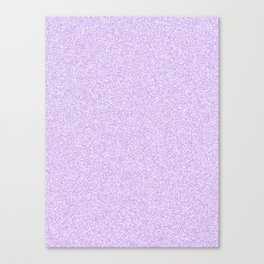 Melange - White and Light Violet Canvas Print