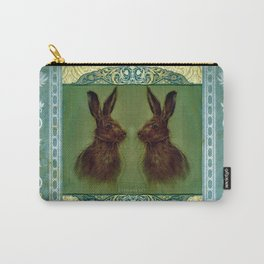 Happy Hare Vintage Carry-All Pouch