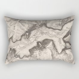 Vintage Map of Yosemite Valley (1870) Rectangular Pillow