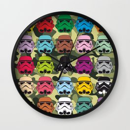 Colorfull patrol Wall Clock
