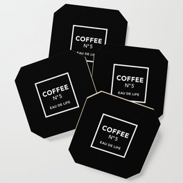 Black Coffee No5 Coaster