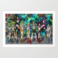 Sailor Scouts Art Print