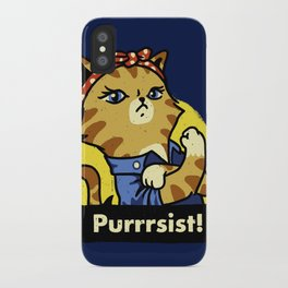 Purrsist! iPhone Case