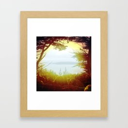 Pray for the Bay Framed Art Print