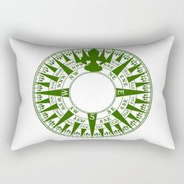 Compass Face Rectangular Pillow