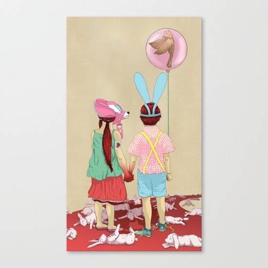 The Terrible Children Canvas Print