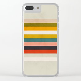 modern abstract stripe geometric Clear iPhone Case