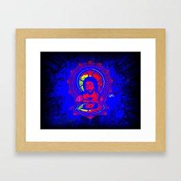 Neon Jesus Framed Art Print