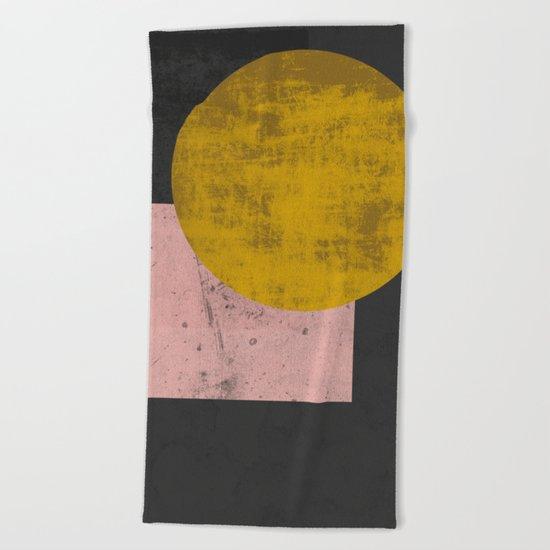 Gold moon Beach Towel