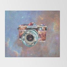 SPACE CAN0N Throw Blanket